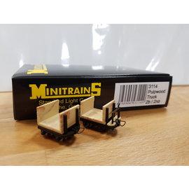 Minitrains Minitrains 3114 set van 4 smalspoor wagonnetjes met kopwanden