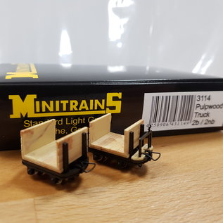 Minitrains Minitrains 3114 set of 4 narrow gauge pulp wood waggons