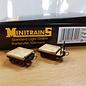 Minitrains Minitrains 3115 Satz von 4 Schmalspur Flachwagen