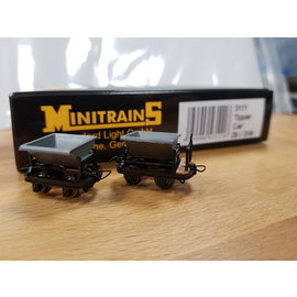 Minitrains Minitrains 3111 set of 4 narrow gauge tipper waggons