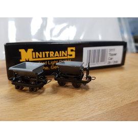 Minitrains Minitrains 3111 set van 4 smalspoor kiep-wagonnetjes