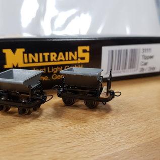 Minitrains Minitrains 3111 set of 4 narrow gauge tipper waggons