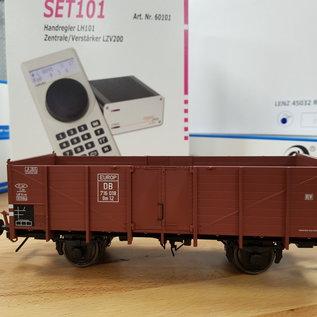 Lenz Elektronik 43101-03 Lenz startset Spoor 0, DB, V20 + 3 wagons