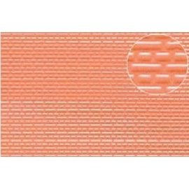 Slater's Plastikard SL445 Plasticard red brick, H0/TT Gauge