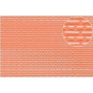 Slater's Plastikard SL445 Zelfbouwplaat rode baksteen, Schaal H0/TT, kunststof