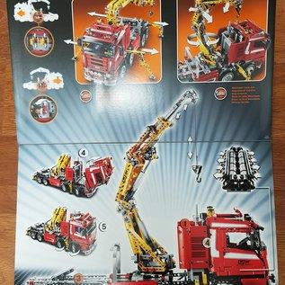 Lego 8258 big 4-axle truck with crane  ** Collectors item **