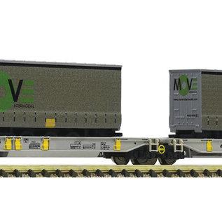 Fleischmann Fleischmann 825025 - Articulated double pocket wagon, AAE (Gauge N) loaded with Move