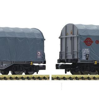 Fleischmann Fleischmann 837927 - 2 piece set slide tarpaulin wagons, ERMEWA (Gauge N)