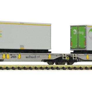 Fleischmann Fleischmann 825006 - Doppeltaschen-Gelenkwagen, AAE (schaal N) geladen met Bring