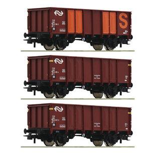 Roco Roco 76062 - 3 delige set open goederenwagens, NS