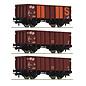Roco Roco 76062 - 3-tlg. Set: Offene Güterwagen, NS