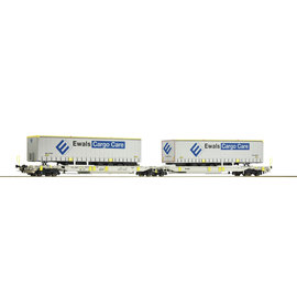 Roco Roco 76437 - Doppeltaschen-Gelenkwagen, AAE geladen mit Ewals