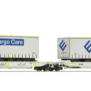 Roco Roco 76435 - Articulated double pocket wagon, AAE loaded with Fercam - Copy