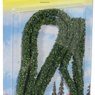 NOCH Noch 21524 Modellhecken dunkelgrün, 2Stück 1x0,6cm, je 50cm lang
