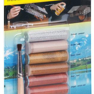 NOCH NOCH 61165 Weathering (pigment) poeder, 8 buisjes