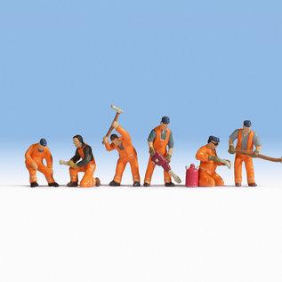 NOCH Noch 15276 Spoorweg arbeiders (Schaal H0), 6 figuren
