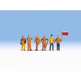 NOCH Noch 15277 Spoorweg arbeiders (Schaal H0), 6 figuren