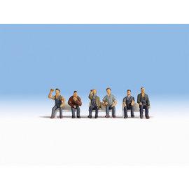 NOCH Noch 15278 Arbeiter sitzend (Spur H0), 6 Figuren