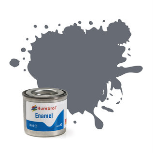 Humbrol Humbrol no 123 Extra Dark Sea Grey, Satin 14ml (Extra Donker Zeegrijs, Satijn)