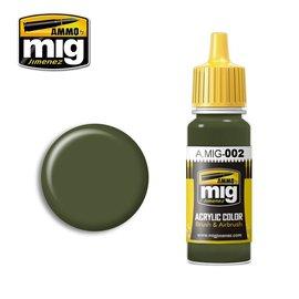 MIG Jimenez MIG 0002 OLIVE GREEN OPT. 2 RAL 6003 (17 ML) (OLIJF GROEN)
