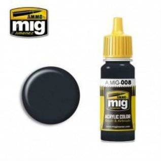 MIG Jimenez MIG 0008 DARK GREY RAL 7021 (17 ML) (DONKER GRIJS)