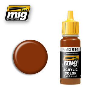 MIG Jimenez MIG 0014 RED-BROWN RAL 8012 (17 ML) (ROTBRAUN)
