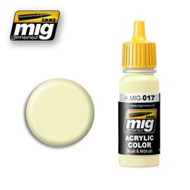 MIG Jimenez MIG 0017 CREAM WHITE RAL 9001 (17 ML) (CREME WIT)