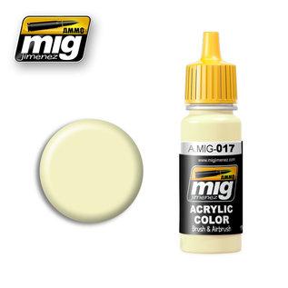 MIG Jimenez MIG 0017 CREAM WHITE RAL 9001 (17 ML) (CREMEWEISS)