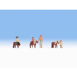 NOCH Noch 15635 Pony rijden (Schaal H0), 6 figuren