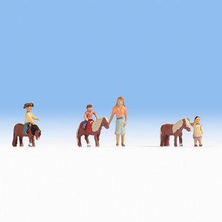 NOCH Noch 15635 Ponyreiten (Spur H0), 6 Figuren