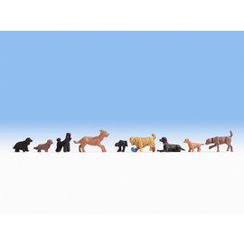 NOCH Noch 15719 Dogs(Gauge H0), 9 figures