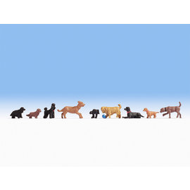 NOCH Noch 15719 Hunde (Spur H0), 9 Figuren