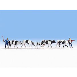 NOCH Noch 15724 Kühe treiben (Spur H0), 7 Figuren