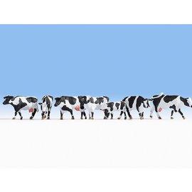 NOCH Noch 15725 Koeien, zwart-wit (Schaal H0), 7 figuren