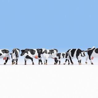 NOCH Noch 15725 Kühe, schwarz-weiß (Spur H0), 7 Figuren