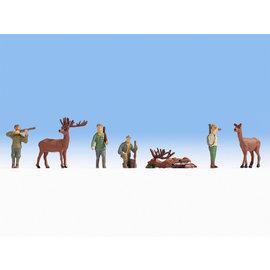 NOCH Noch 15731 Hunting (Gauge H0), 7 figures