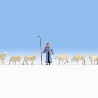 NOCH Noch 15748 Schapen en herder (Schaal H0), 9 figuren