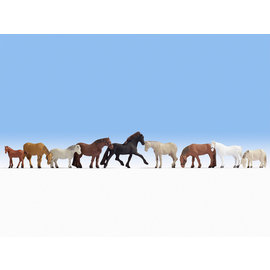 NOCH Noch 15761 Paarden (Schaal H0), 9 figuren