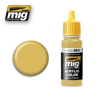 MIG Jimenez MIG 0061 WARM SAND-YELLOW (17 ML) (ZAND GEEL)