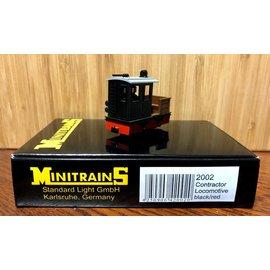 Minitrains Minitrains 2002 smalspoor diesel bouw-lok zwart