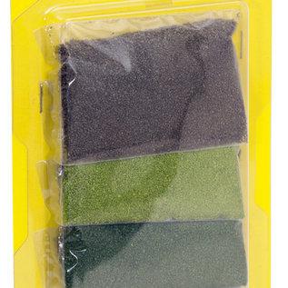 NOCH Noch 07167 Laub, je 14 g olive, hellgrün, mittelgrün, dunkelgrün
