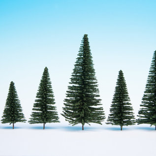 NOCH Noch 32830 Fir Trees with Planting Pin, 25 pieces, 3,5-9cm high