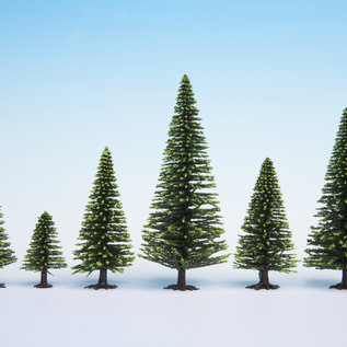 NOCH Noch 26826 Model Fir Trees, 50 pieces, 5-14cm high