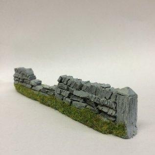 Javis Javis PW1DAM Trockenmauerwerk beschädigt (Spur H0/00, Resin), ca 13,5 cm
