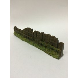 Javis Javis PF11 Railway sleeper fence dark brown damaged (Gauge H0/00, Resin) approx. 13,5 cm