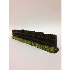Javis Javis PF9 Bahnschwelle Zaun dunkelbraun (Spur H0/00, Resin), ca 13,5 cm