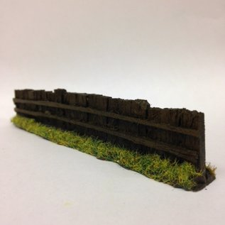 Javis Javis PF9 Railway sleeper fence dark brown (Gauge H0/00, Resin) approx. 13,5 cm