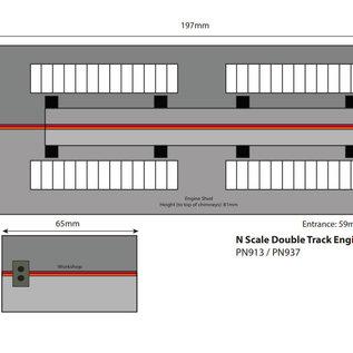 Metcalfe Metcalfe PN937 Zweiständiger Lokschuppen mit Nebengebäude Settle/Carlisle (Spur N)