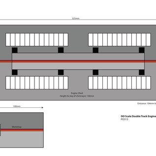 Metcalfe Metcalfe PO337 Zweiständiger Lokschuppen Settle/Carlisle (Baugröße H0/OO)