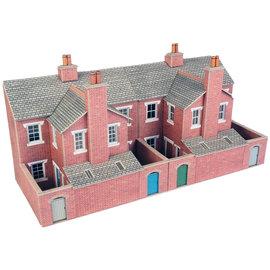 Metcalfe Metcalfe PO276 Low relief terraced red brick house backs (H0/OO gauge)